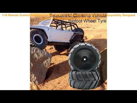 Review 1/16 Remote Control Climbing Car Big Truck Tire Universal Type 1 Pair Black Exquisitely Desi