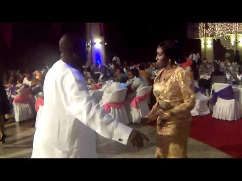 Nana Konadu dancing at the MUSIGA Grand Ball