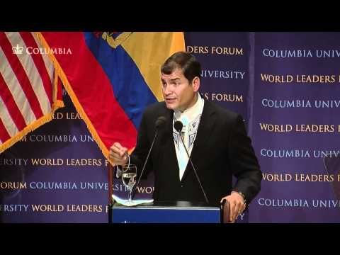 World Leaders Forum: President of the Republic of Ecuador, Rafael Correa