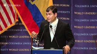 Repeat youtube video World Leaders Forum: President of the Republic of Ecuador, Rafael Correa
