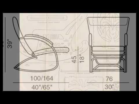 Чертежи кресла качалки из фанеры
