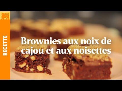 Brownies aux noix de cajou et aux noisettes
