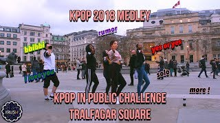 [K-POP IN PUBLIC CHALLENGE] 2018 DANCE MEDLEY/RANDOM DANCE IN LONDON (100K SPECIAL) [KRUSH LDN]