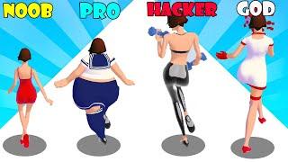 NOOB vs PRO vs HACKER vs GOD - Body Race screenshot 5