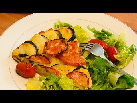omelette-pommes-de-terre-et-courgettes-au-four---recette-facile