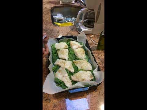 Wild Cod, Pesto, Diced Tomatoes and Garlic