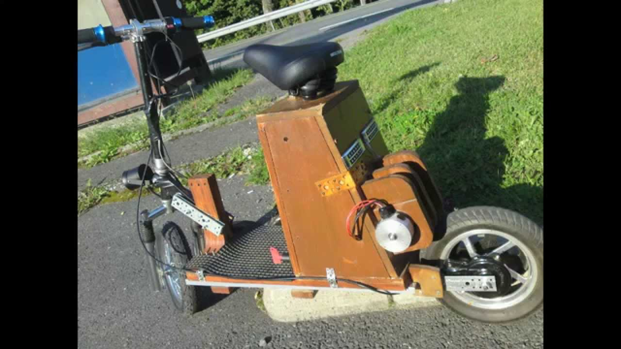 Electric Diy Homemade Scooter 24v Lifepo4 Youtube