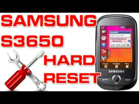 How To Reset A Samsung GT-S3650 (Corby)