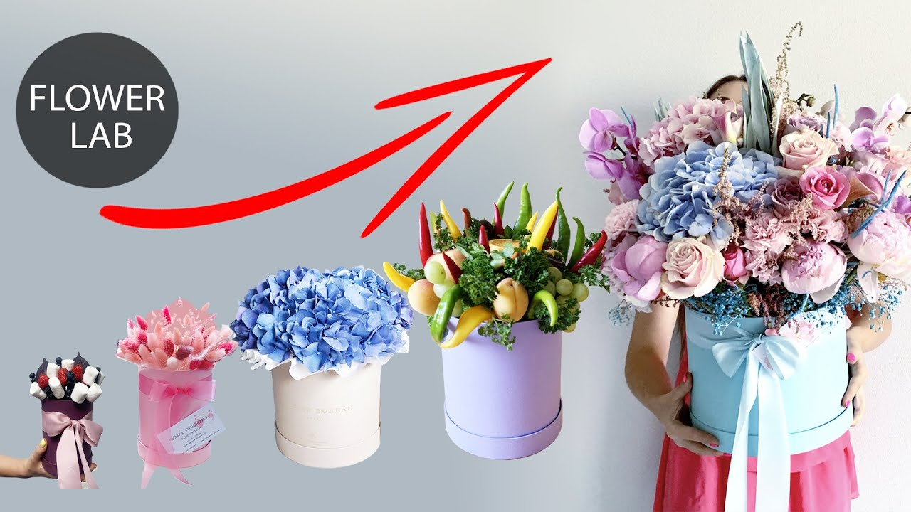 Top 5 Bouquet Ideas Flower Box From Small To Giant Diy Youtube