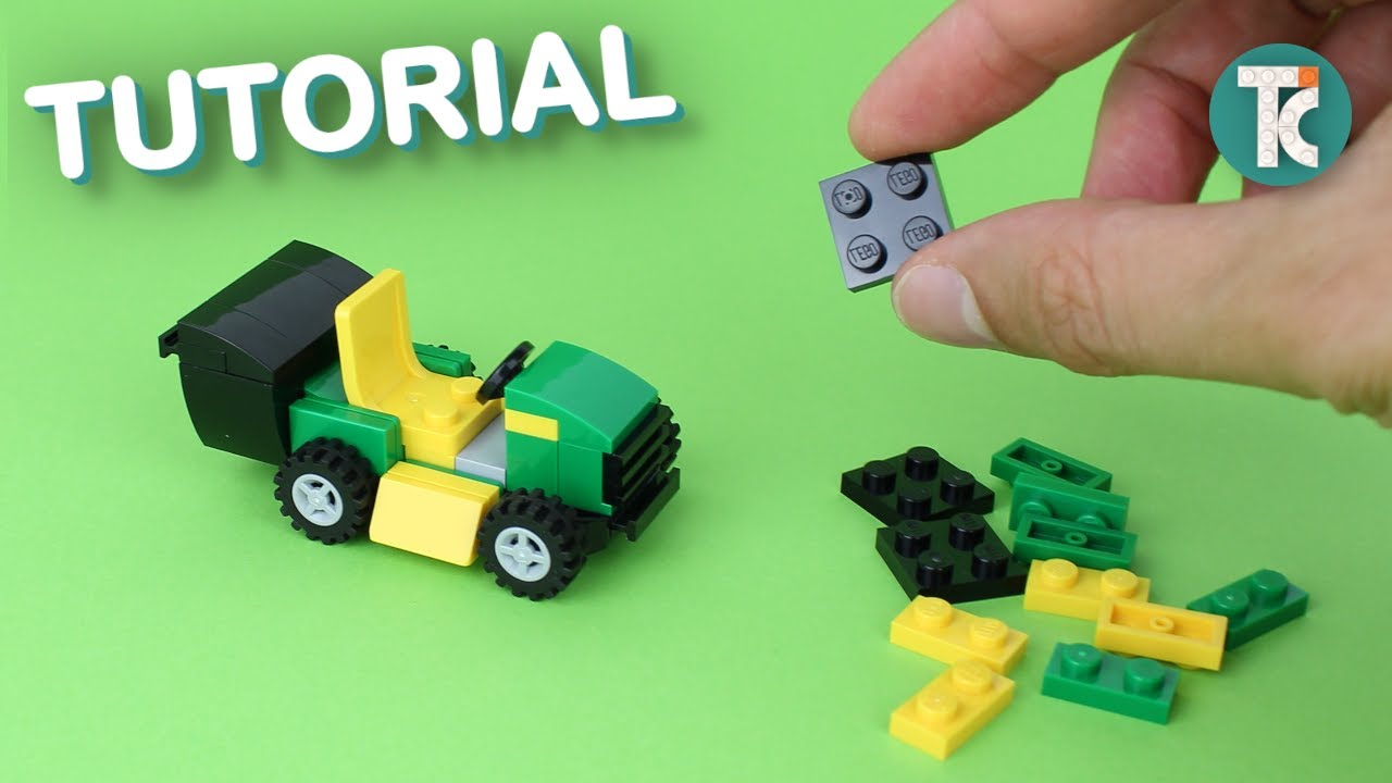 LEGO Riding Lawn Mower (Tutorial)