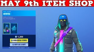 Fortnite Item Shop (May 9th) | *NEW* CRYPTIC SKIN/SPECTRAL SPINE BACKBLING + ENIGMA WRAP!