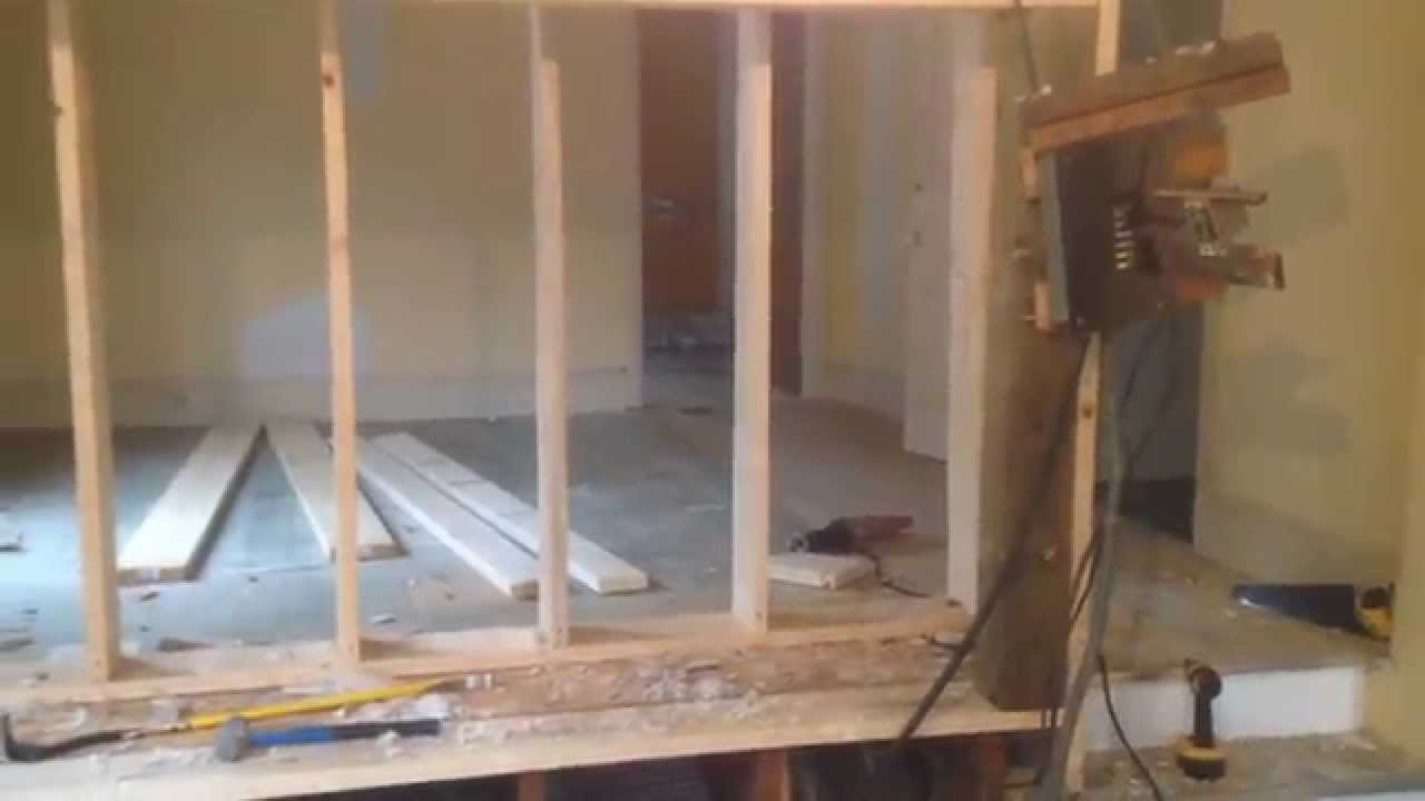 how to remove replace load bearing wall diy part 6 youtube. Black Bedroom Furniture Sets. Home Design Ideas
