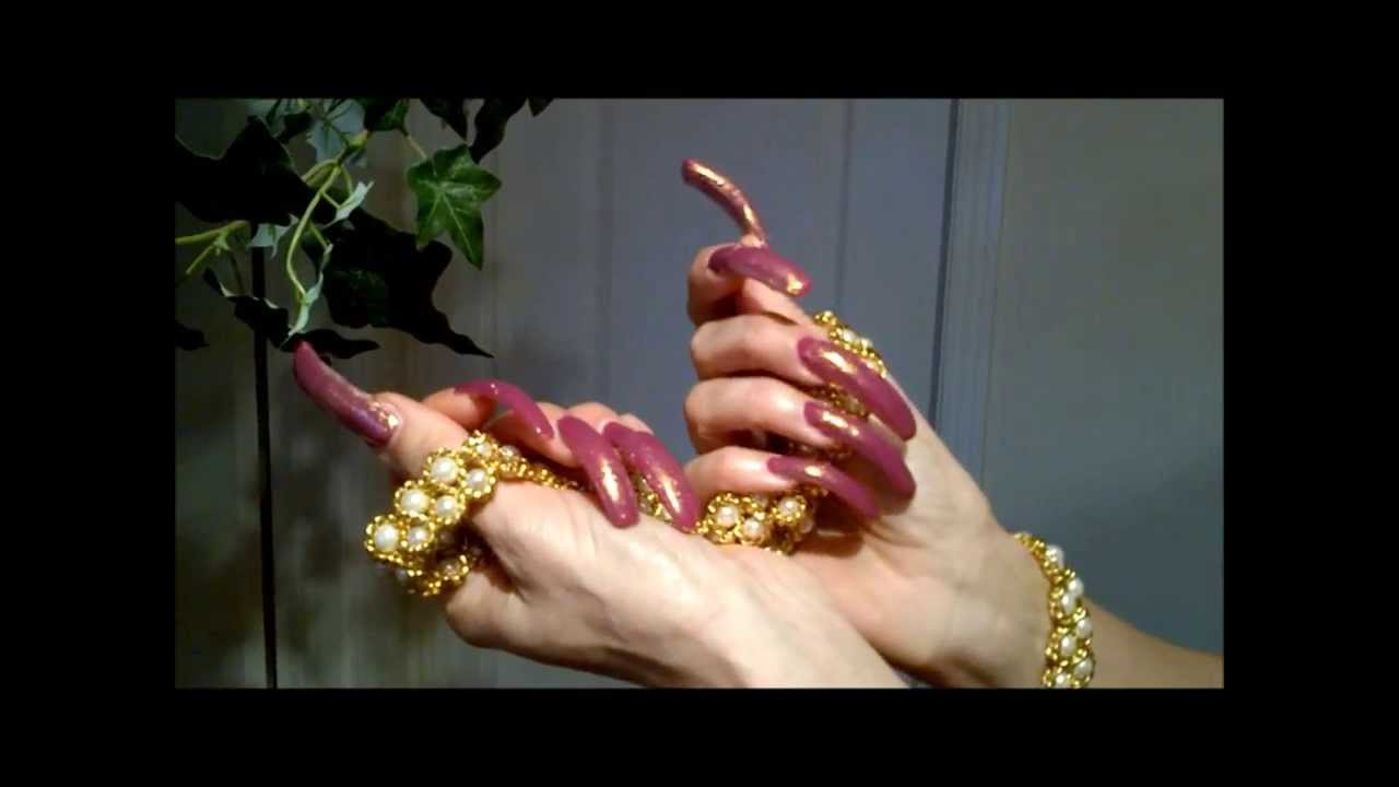 My Long Nails Are Ready For New Years *_* - YouTube