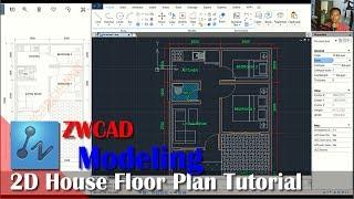 ZWCAD 2D House Floor Plan Tutorial For Beginner