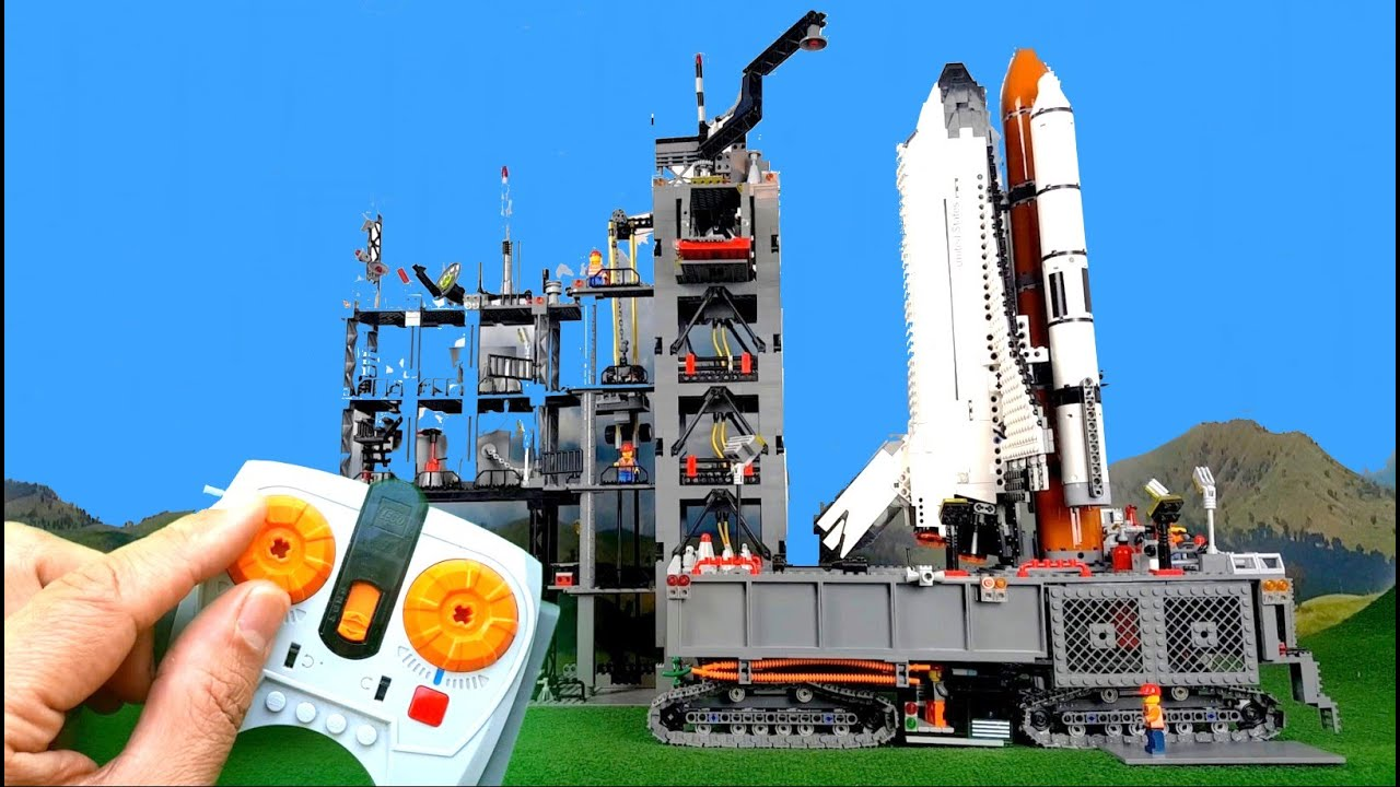 countdown and launch of big lego space shuttle youtube. Black Bedroom Furniture Sets. Home Design Ideas