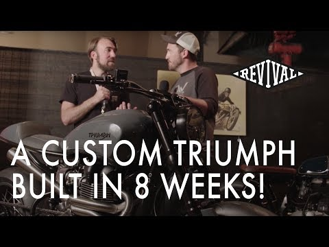 Custom Triumph motorcycle built in just 8 weeks! - An interview with Justin Webster