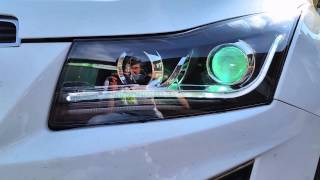 Альтернативная оптика Шевроле Круз V17 тюнинг фары