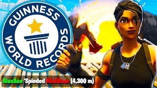 Trying To Beat MUSELKS WORLD RECORD LONGEST KILL POSSIBLE In Fortnite Battle Royale!