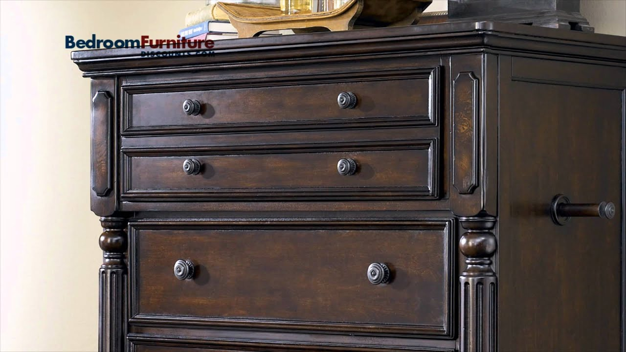 Ashley Key Town Panel Bedroom Set In Dark Brown SALE   YouTube