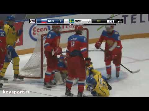 GLEB IVANOV D #11 TEAM RUSSIA U17 vs Sweden (our client) Canada Swift Current 2019