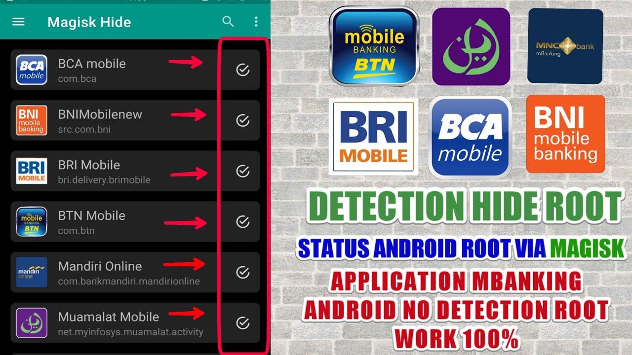 Cara Aplikasi Mobile Banking Bisa Di Hp Root Via Magisk Youtube