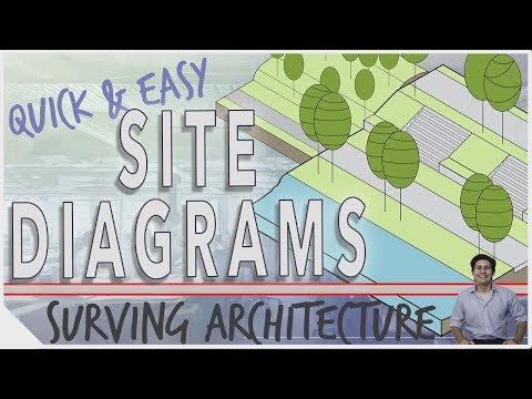 Isometric Site Diagram for Architecture and Landscape Design