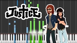 Justice - Randy [piano cover and synthesia tutorial]