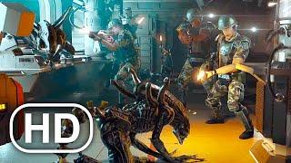 Пришельцы уничтожили весь корабль с солдатами Сцена 4K ULTRA HD