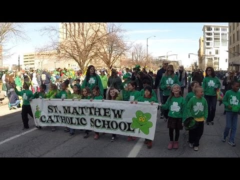 St. Matthew School 1st Grade in the 2015 St. Patrick's Day Parade