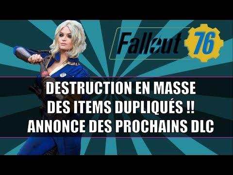 FALLOUT 76: DESTRUCTION DES ITEMS DUPLIQUÉS  / ANNONCES DE DLC ET MISE À JOUR thumbnail