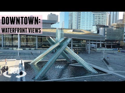 Vancouver Downtown: Coal Harbour Waterfront in 360 | 8K Footage