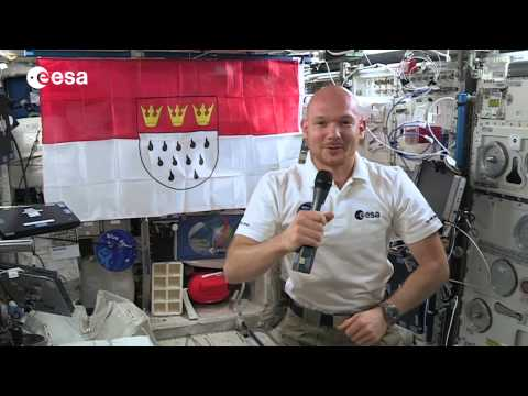 Greetings from space to Cologne - Europe's astronaut city