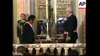 Peruvians celebrate Toldeo's inauguration