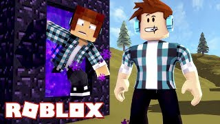 Roblox - MINECRAFT NO ROBLOX !!