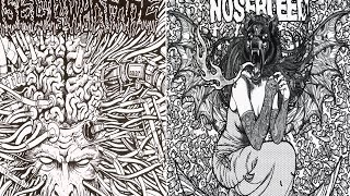 "Insect Warfare / Agoraphobic Nosebleed 5"" split FULL EP (2008 - Grindcore)"