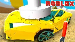 МАШИНКИ в ROBLOX с КИДОМ ! КРАШ ТЕСТ или проверка на прочность машин в игре Car Crushers 2 #КИД
