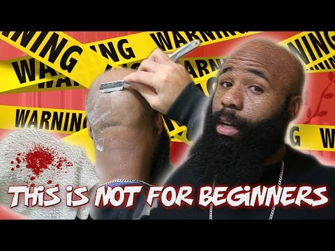 The Straight Razor Is NOT For Beginners ❗ | Bald Head Shave