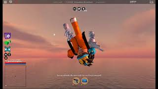 falling from space to land in jailbreak | roblox