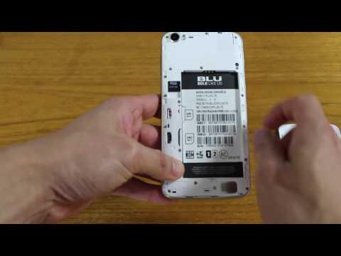 Blu Dash X Plus SIMカード抜き差し