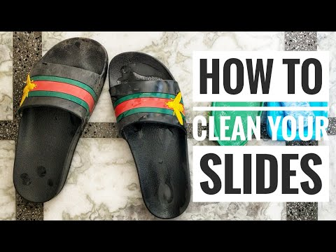 How to clean your Gucci slides/flops