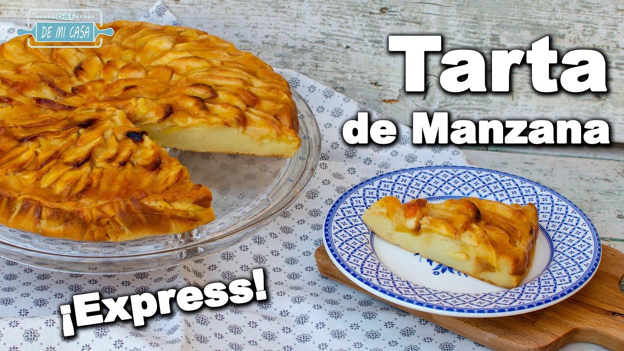 Tarta de Manzana Express Fácil y Rápida | Cómo hacer Tarta de Manzana 🍰🍏