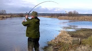 12 Рыбалка на реке Цна. Щука на джерк с берега и лодки