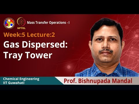 Lec 18: Gas Dispersed: Tray Tower