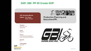 SAP GBI PP 05 Créer SOP