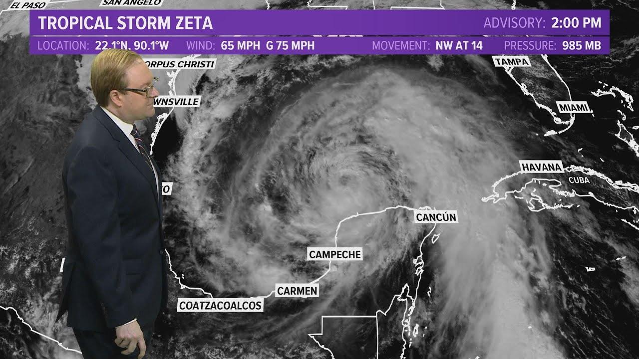 Tropics Update: Tropical Storm Zeta expected to strengthen