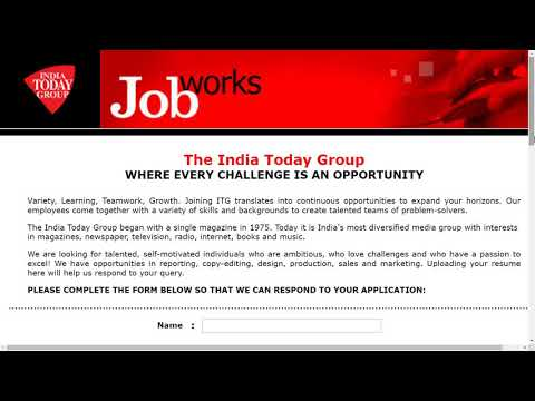 👉career in media( india today) vacancy
