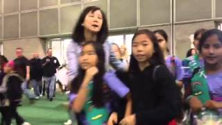 Thousands of Girl Scouts enter Girltopia Los Angeles
