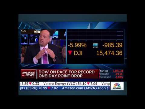 Mon Aug 24, 2015 Wall Street hammered plunge protection team and FED save the day at 945am
