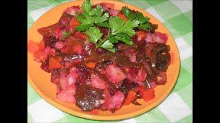 Винегрет с морской капустой (ламинарией)