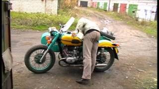 Первый запуск двигателя в этом году мотоцикла Урал М-67